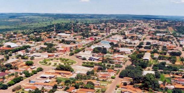 Foto aerea de Jaciara. Foto da assessoria