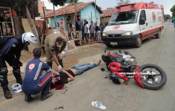 O Samu foi até o local, mas a vítima já estava sem viada - Foto: José Antonio Araújo / AGORA MT
