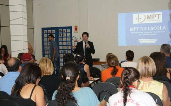 Escolas de Rondonópolis participam de programa do MPT