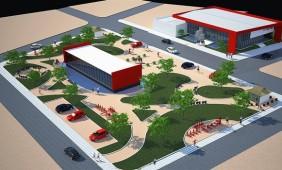 Projeto de revitalização da praça e da Prefeitura - Foto: Assessoria