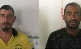 Célio José de Jesus e Nilson Ferreira da Silva foram presos por suspeita de cortar os testículos de um homem em Araguaçu (Foto: Divulgação/SSP TO)