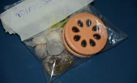 Droga encontrada com o suspeito - Foto: Varlei Cordova / AGORA MT