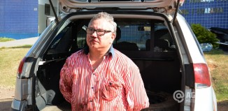 José Delgado teve chegou na delegacia ferido - Foto: Messias Filho / AGORA MT