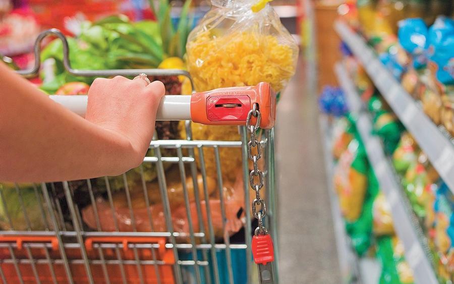 Imagem: cesta basica compra supermercado