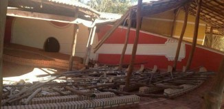 Telhado destruído - Foto: Divulgação