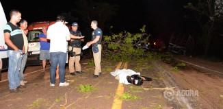 Acidente BR 364 proximo a Pedra Preta com vitima fatal - Foto : Messias Filho / AGORA MT