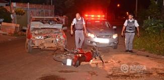 Polícia Militar no local de acidente -= Foto : Messias Filho / AGORA MT