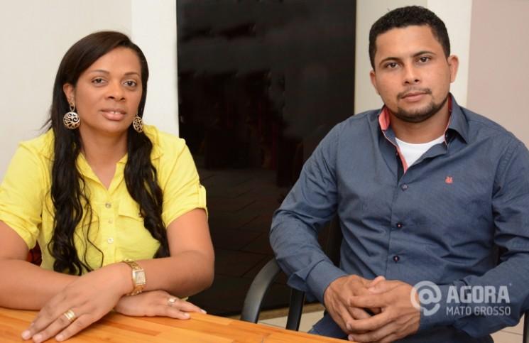 Rosilane Braga e Marcos dos Santos.Foto:Varlei Cordova/AGORAMT