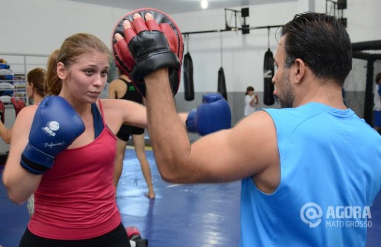 Aula de Muay Thai .Foto:Varlei Cordova/AGORAMT