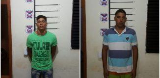 Suspeitos de roubo presos pela polícia Civil - Foto : Reprodução PJC
