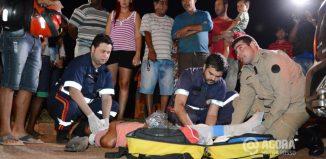 Danilo Fernandes vitima de acidente na MT 270 na Vila Paulista - Foto: Varlei Cordova/ AGORA MT