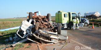 Acidente frontal na br 163 em Rondonopolis - Foto: Varlei Cordova/ AGORA MT
