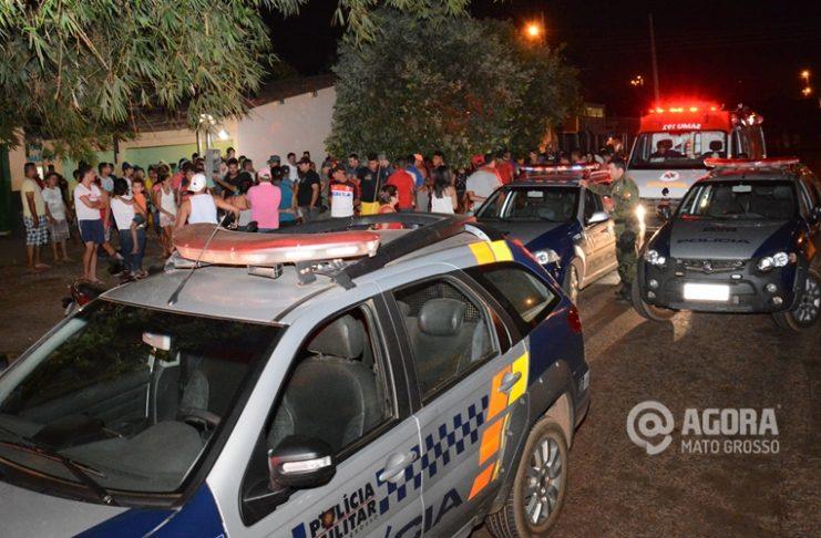 Homicídio na região Salmem - Foto : Messias Filho / AGORA MT