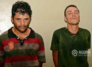 Leandro Jesus e Kaique Martins suspeitos de roubo - Foto : Messias Filho / AGORA MT