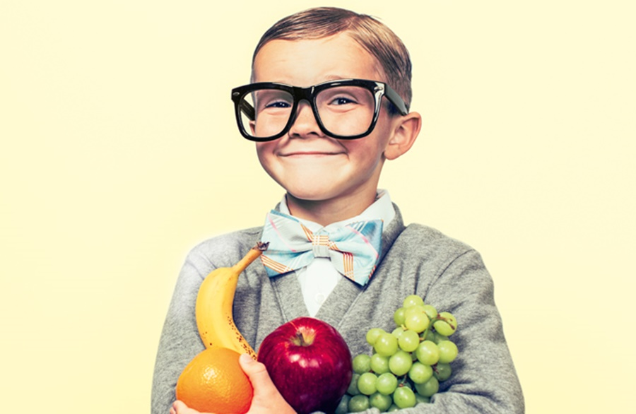 Imagem: Crianças frutas