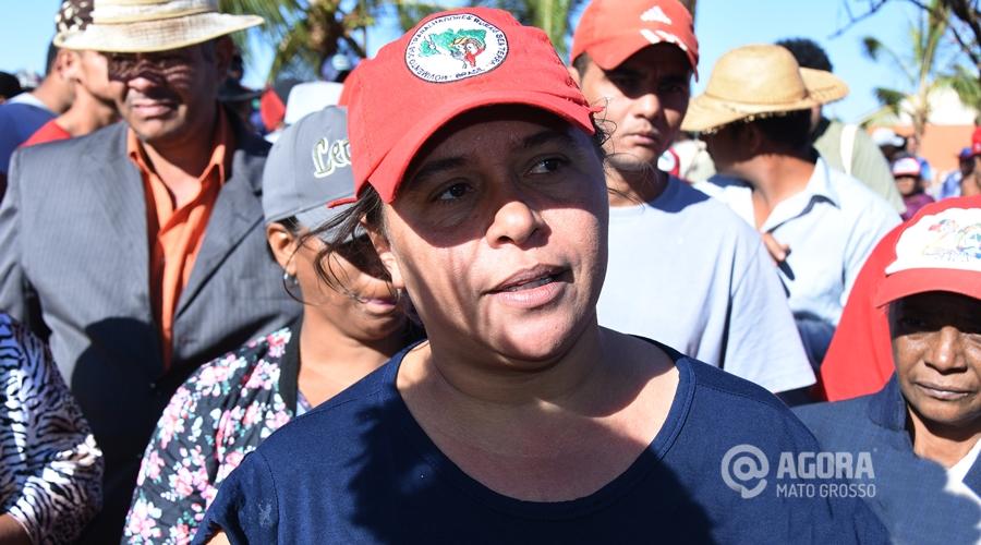 Idalice Nunes coordenadora estadual do MST - Foto: Varlei Cordova/ AGORA MT