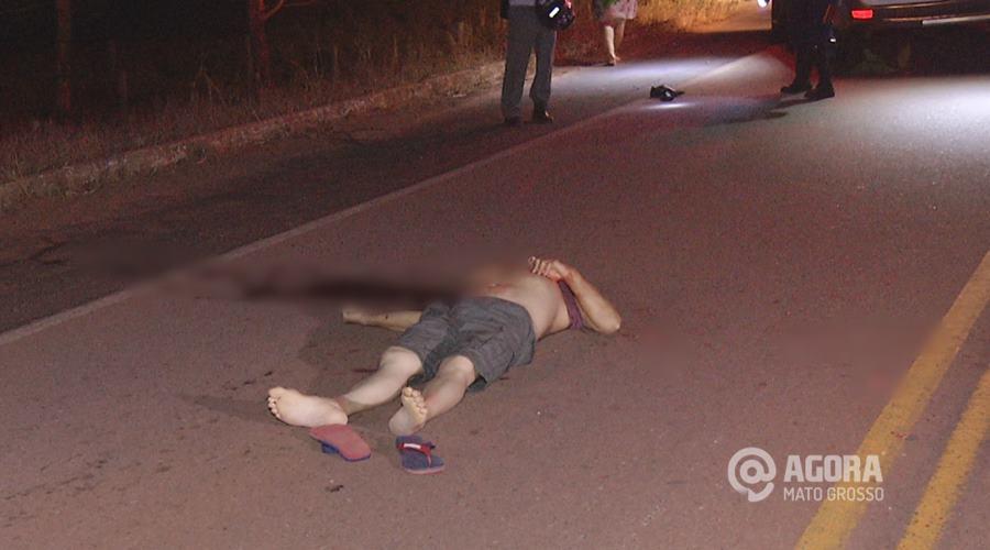 Imagem: Corpo encontrado na MT 270 após a Ponte do Rio Vermelho em Roo