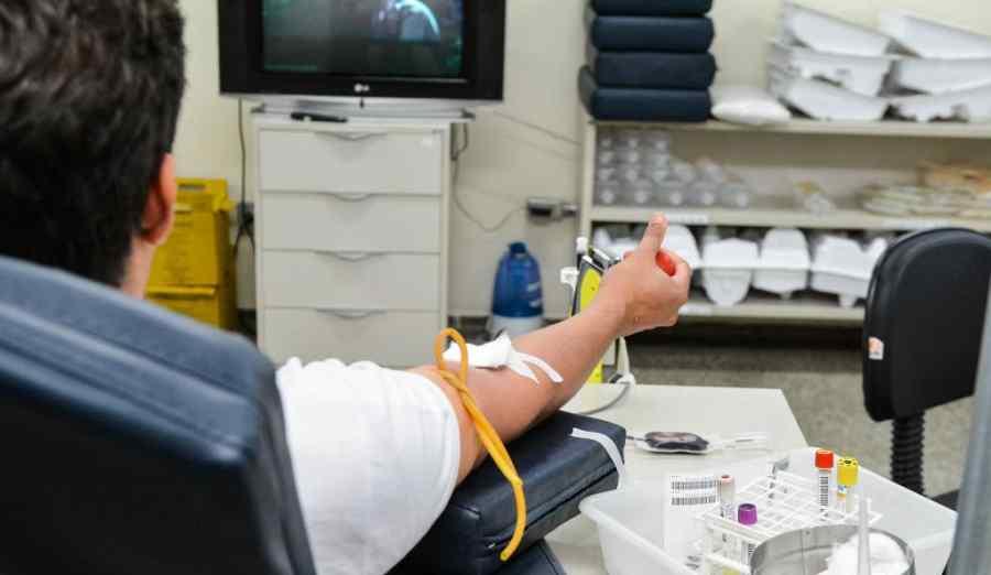 Imagem: doação de sangue