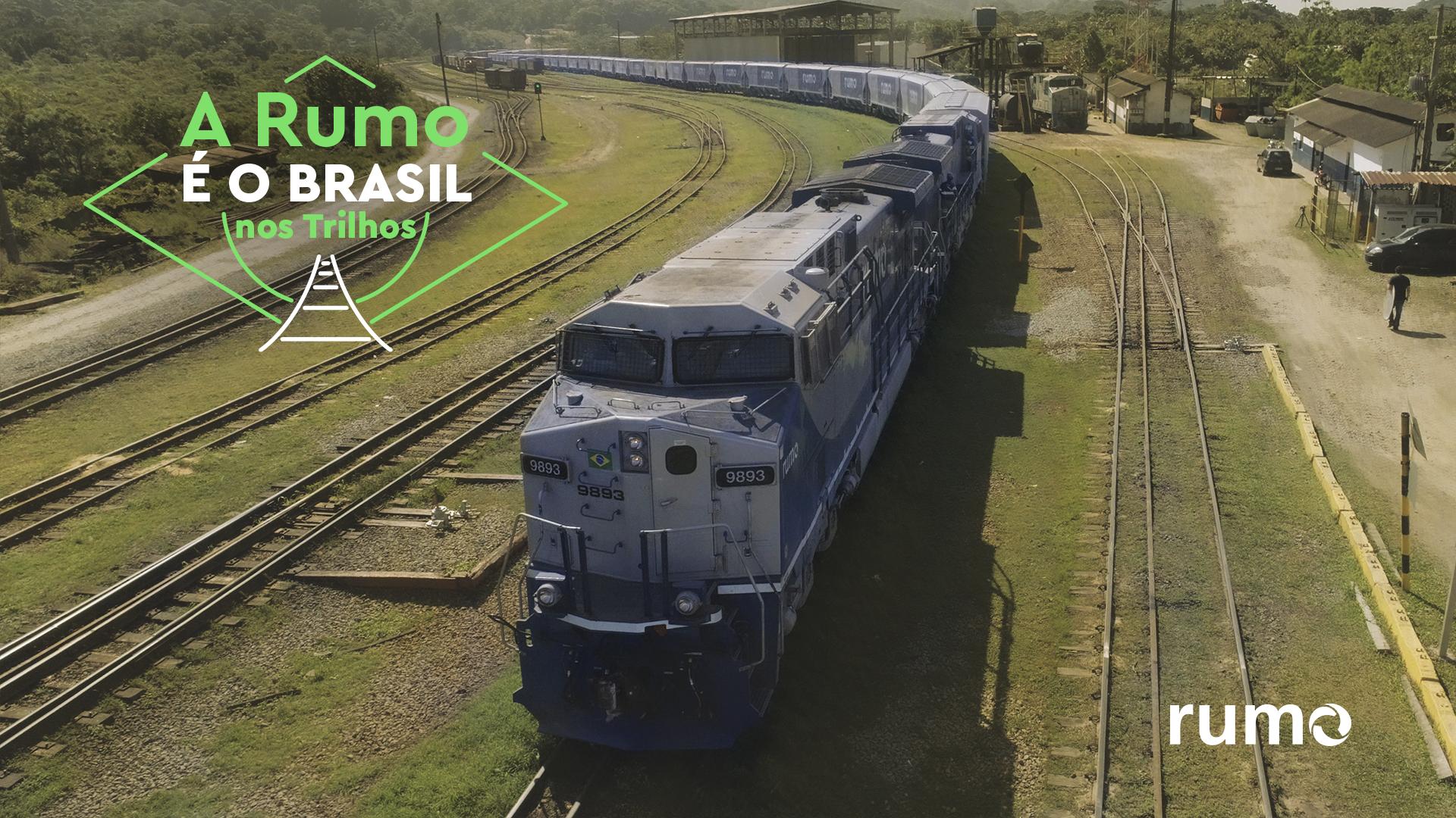Imagem: rumo rp 06 jun brasil nos trilhos selo design v2 04 Transporte ferroviário: preço mais baixo no frete de milho e da soja