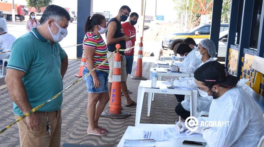 Imagem: Triagem do teste covid na prf Rondonópolis e mais 12 cidades têm risco alto de contaminação por Covid-19