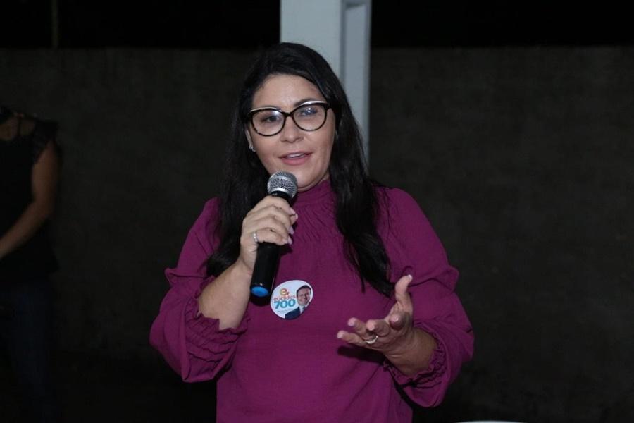 Imagem: Candidata a prefeita de Jaciara Andreia Wagner defende valorização do servidor de carreira