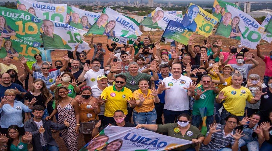 Imagem: Luizao e seus apoiadores em campanha Carreata de Luizão10 toma as ruas de Rondonópolis