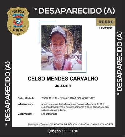 Imagem: desaparecido Desaparecido | Celson Mendes Carvalho