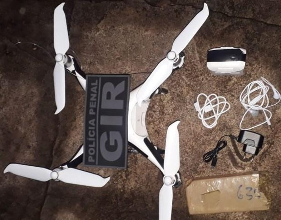 Imagem: drone Policiais penais realizam três apreensões na PCE