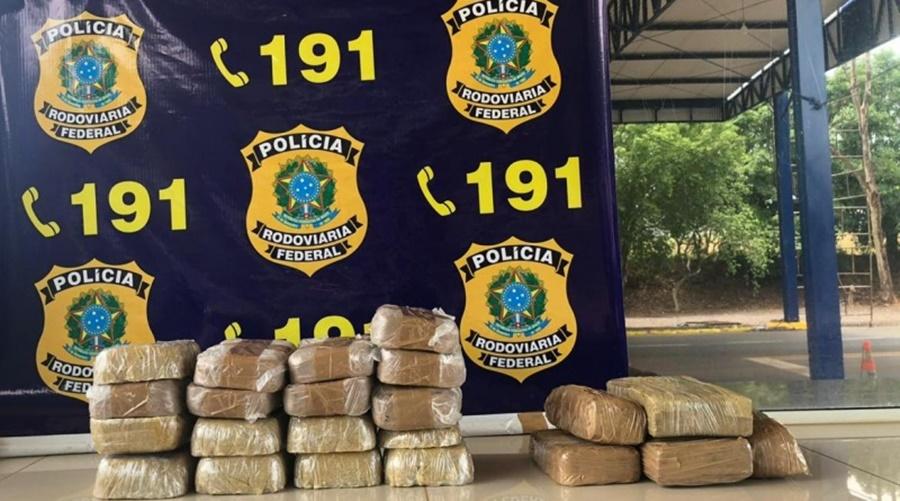 Imagem: prf 1 PRF apreende mais de 21kg de droga em compartimento adaptado de carro