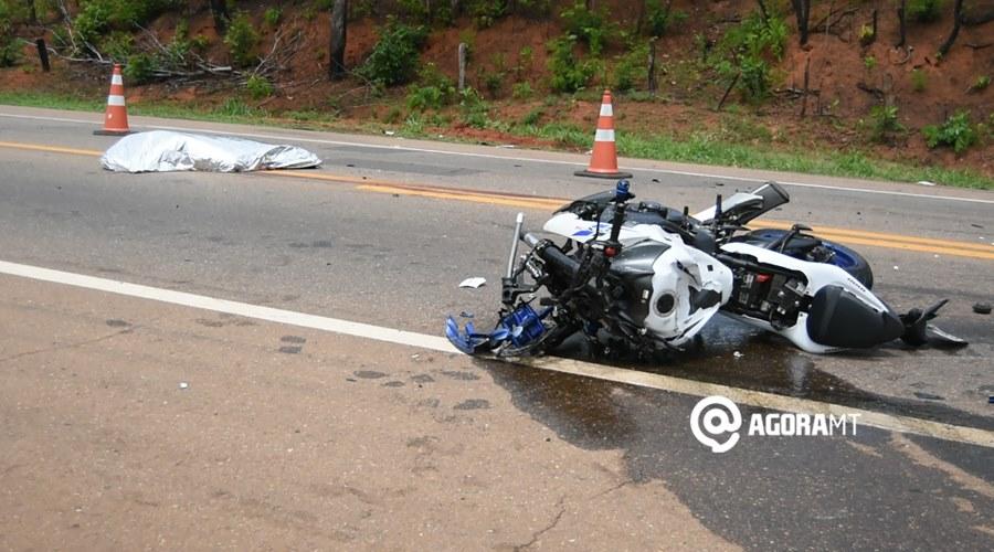 Imagem: Acidente com vitima fatal na MT 130 Motociclista morre após colidir com carreta na MT 130