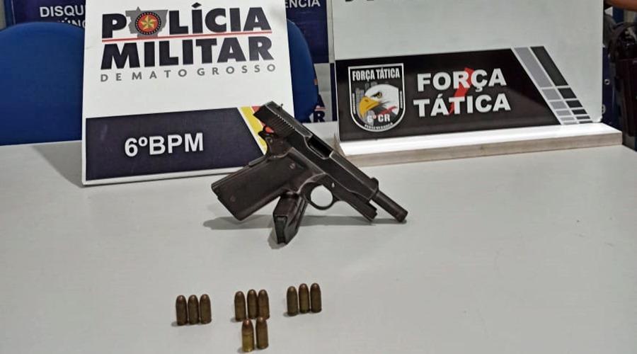 Imagem: Arma e municoes apreendidas pela equipe da PM Sargento da PM é assassinado pelo próprio filho em Mato Grosso
