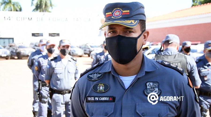 Imagem: Coronel Candido fala da Operacao Maria da Penha Guarnições do 5º BPM visitam vítimas de violência doméstica
