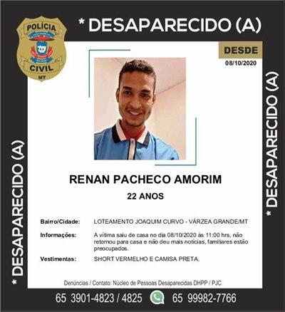 Imagem: Desaparecido Desaparecido | Renan Pacheco Amorim