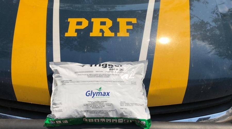 Imagem: PRF apreende 800 kg de agrotóxicos contrabandeados