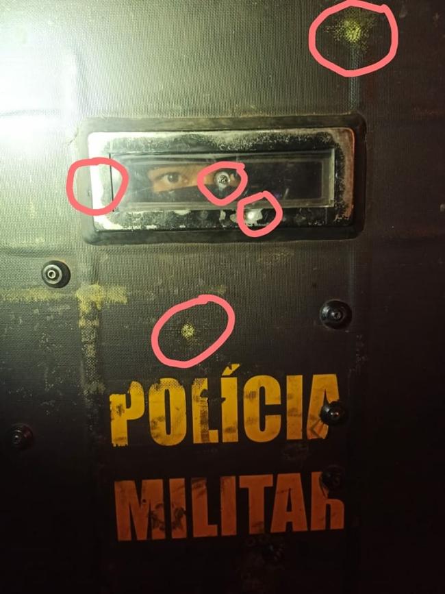 Imagem: sinais de tiro 1 Idoso morre em confronto com a Polícia em MT