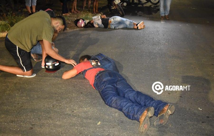 Imagem: Acidente Vila Mariana Colisão de forte impacto deixa motociclistas feridos