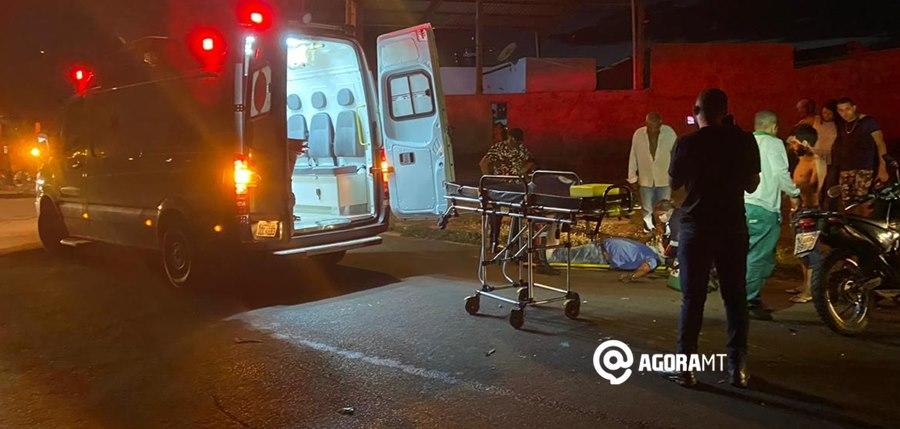 Imagem: Acidente em Tangara da Serra Motociclista faz contorno indevido e causa acidente