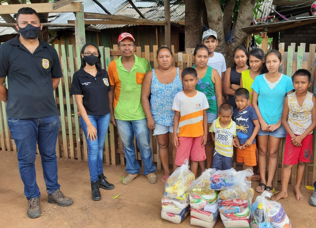 Imagem: PJC 1 PC distribui 200 cestas básicas em Vila Bela da Santíssima Trindade