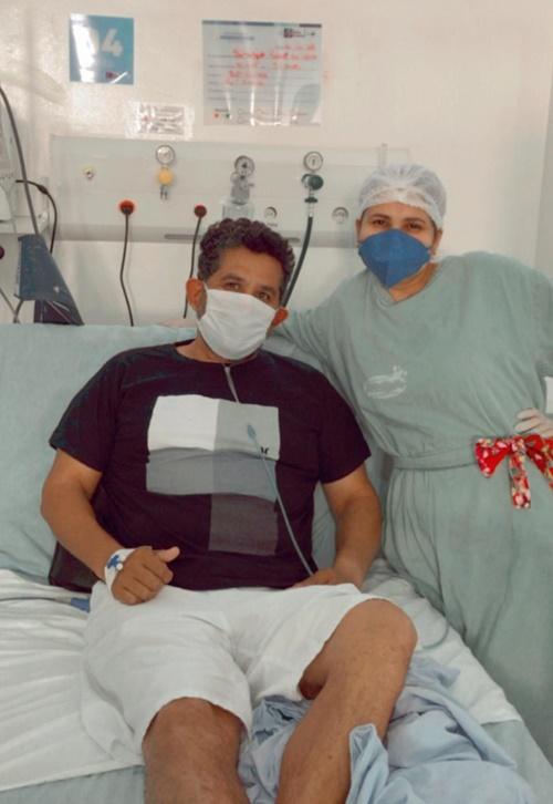 Imagem: Paciente apos sair da UTI Hospital de Rondonópolis registra mais uma recuperação de paciente com Covid-19