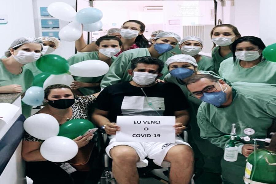 Imagem: Paciente e curado da covid Hospital de Rondonópolis registra mais uma recuperação de paciente com Covid-19