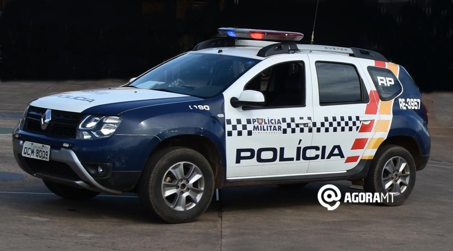 Imagem: Viatura da Policia Militar Motorista de app tem dente quebrado após ser agredido com soco na boca