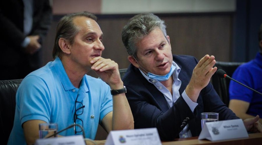 Imagem: Wilson Santos e Mauro MENDES Wilson Santos afirma que Governo tomou melhor decisão a respeito do BRT