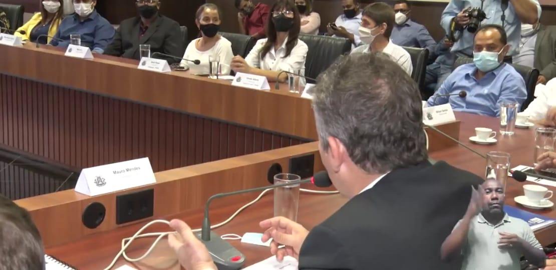 Imagem: mm com prefs1 Governador se reúne com prefeitos eleitos do PSDB e PP e planeja ações para 2021