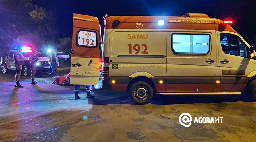 Imagem: Acidente em Tangara da Serra Motorista invade a preferencial, causa acidente e deixa motociclista ferida