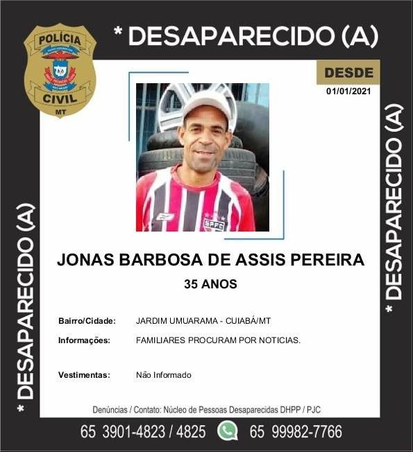 Imagem: DESAPARECIDO 1 Desaparecido | Jonas Barbosa de Assis Pereira