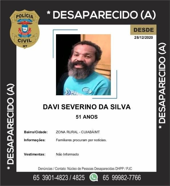 Imagem: Desaparecido Desaparecido   Davi Severino da Silva