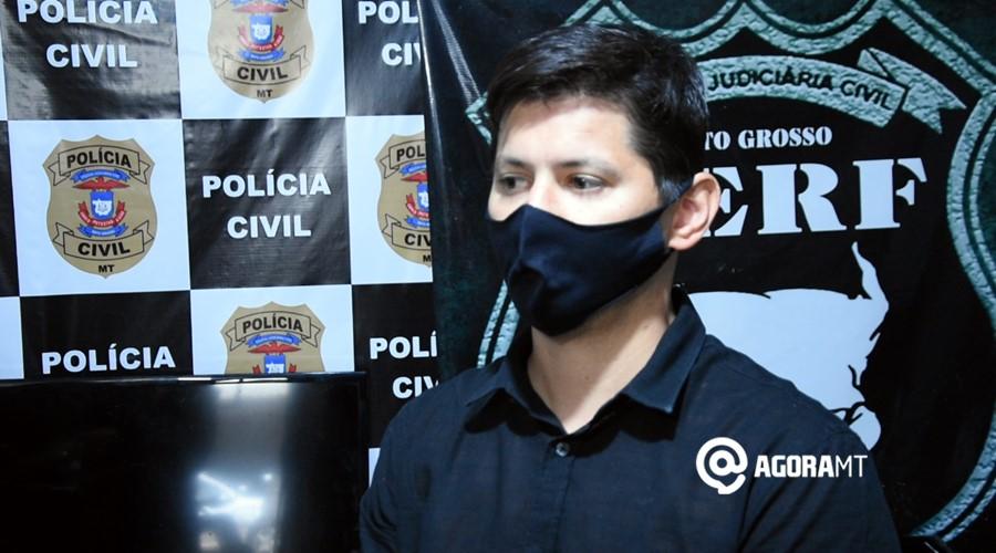 Imagem: Dr Santiago delegado da DERF DERF prende receptador e soluciona caso de roubo no Jardim Adriana