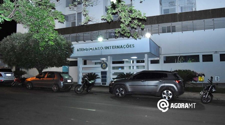 Imagem: Entrada do Hospital Santa Casa Rondonópolis registra 79 novos casos confirmados de Covid-19