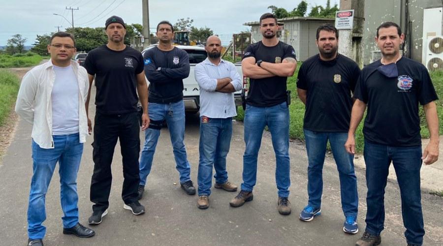 Imagem: Equipe da seguranca que ira incinerar a droga PC incinera mais de uma tonelada de drogas apreendidas em 2020