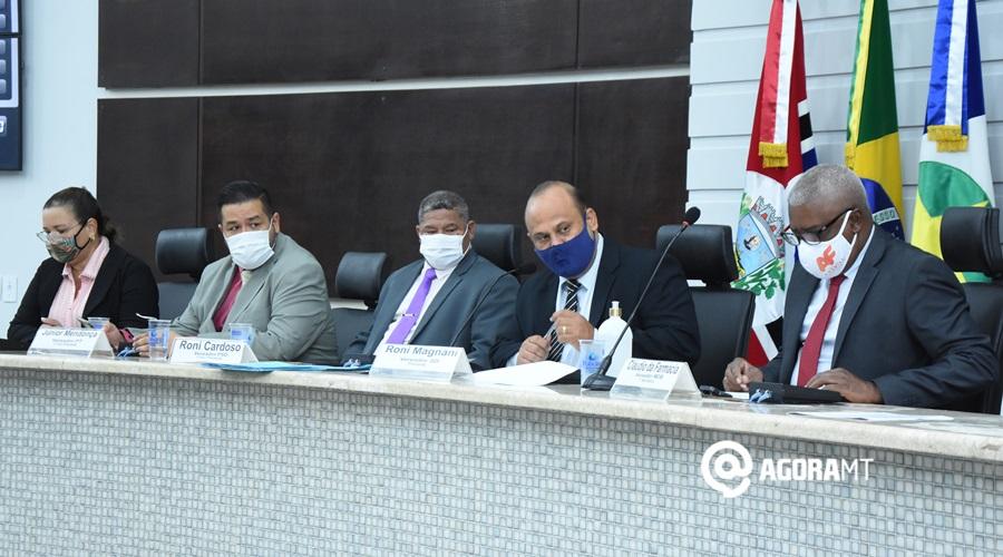 Imagem: Mesa diretora da Camara Municipal Vereadores avaliam investimentos para conter Covid-19 em Rondonópolis
